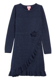 Lilly Pulitzer® Stefani Faux Wrap Sweater Dress (Toddler Girls, Little Girls & Big Girls)