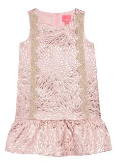 Lilly Pulitzer® Thalia Metallic Jacquard Drop Waist Dress