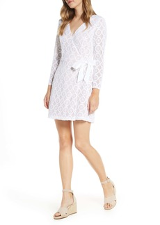 Lilly Pulitzer® Tiki Long Sleeve Lace Faux Wrap Romper