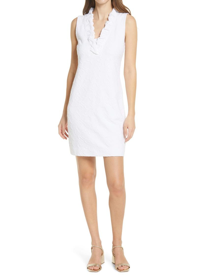 Lilly Pulitzer® Tisbury Ruffle Neck Jacquard Shift Dress