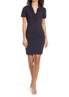 Lilly Pulitzer® Tisbury Ruffle Neck Ottoman Shift Dress