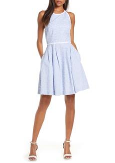 Lilly Pulitzer® Tori Sleeveless Eyelet Fit & Flare Dress