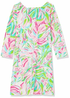 """Lilly Pulitzer Women's 19"""" Swing Dress with 3/4 Length Sleeves and Lattice Strap Detail  S"""