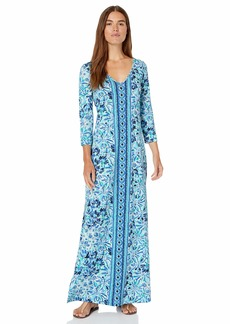 Lilly Pulitzer Women's Anissa Maxi Dress Iris Blue high Maintenance S