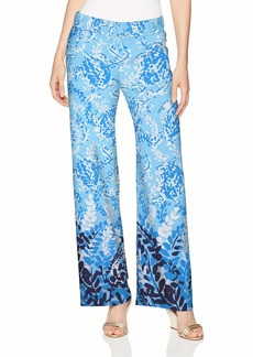 Lilly Pulitzer Women's Bal Harbour Palazzo Blue peri Turtley Awesome Engineered Pants XS