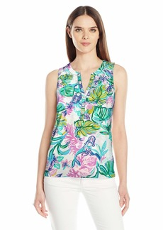 Lilly Pulitzer Women's Essie TOP Resort White Mermaid in The Shade XS