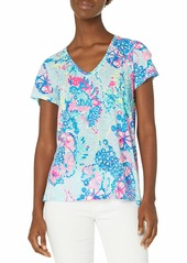 Lilly Pulitzer Women's Etta V Neck Top  L