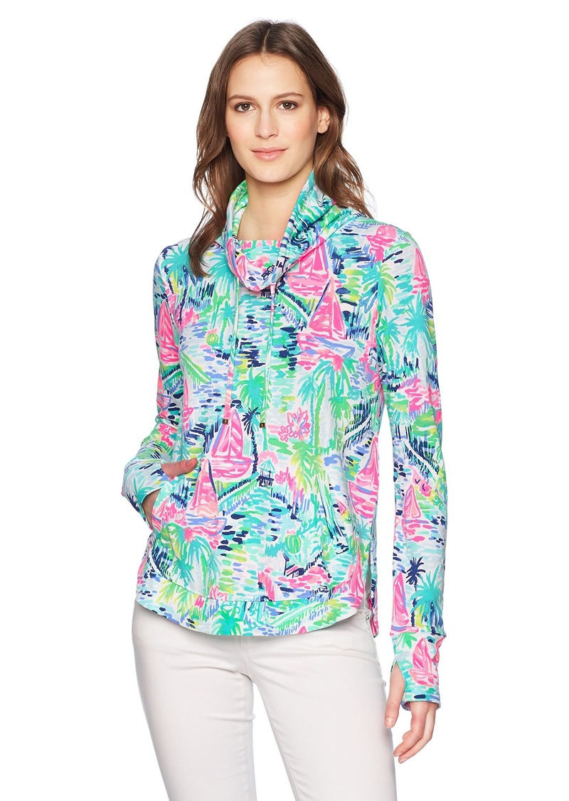 Lilly Pulitzer Women's Fletcher Pullover Multi Salt in The air M