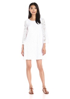 Lilly Pulitzer Women's Foley Dress OB Resort White Whirlpool Knit Lace