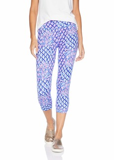 Lilly Pulitzer Women's Hi Rise Weekender Legging Royal Purple pop up Toe in in Extra Small