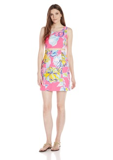 Lilly Pulitzer Women's Iggy Sheath Dress NP Kir Royal Pink Swept by The Tides