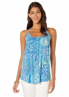 Lilly Pulitzer Women's LACY TOP Blue Heaven Hey Soleil XL