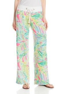 Lilly Pulitzer Women's Linen Beach Pant Tropical Pin MC Tropical Storm