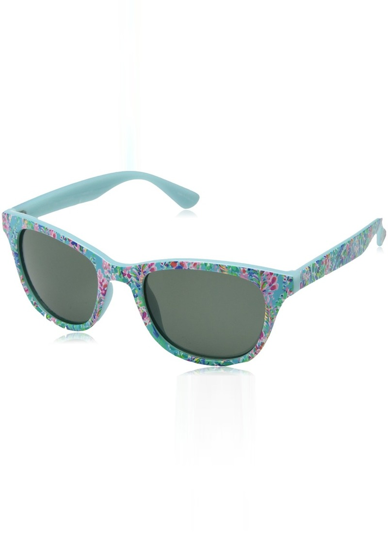 Lilly Pulitzer Women's Maddie Polarized Square Sunglasses CATCH THE WAVE
