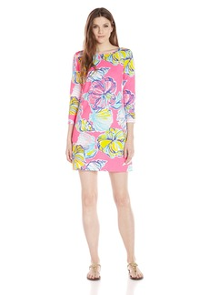 Lilly Pulitzer Women's Marlowe Boat-Neck Shift Dress NP Kir Royal Pink Swept by The Tides