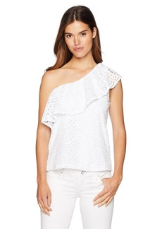 Lilly Pulitzer Women's Matteo Top Resort White sea Urchin Terry lace XL