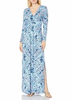 Lilly Pulitzer Women's Nichola Maxi Dress Zanzibar Blue Meet Me On The Dock