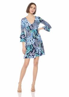Lilly Pulitzer Women's Raina Dress deep Indigo Swish/Skyway XS