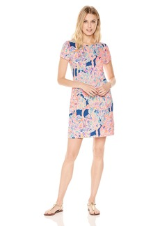 Lilly Pulitzer Women's Short Sleeve Marlowe Dress Pelican Pink Head in The Sand XS
