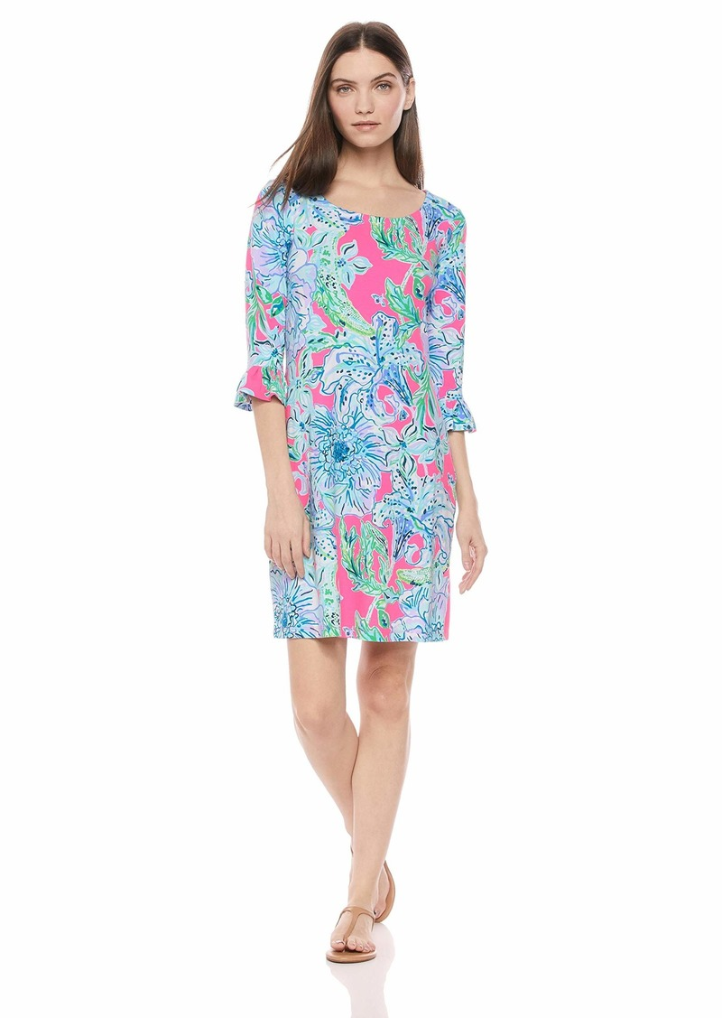 Lilly Pulitzer Women's UPF 50+ Sophie Ruffle Dress Pink Tropics in The Groove XS