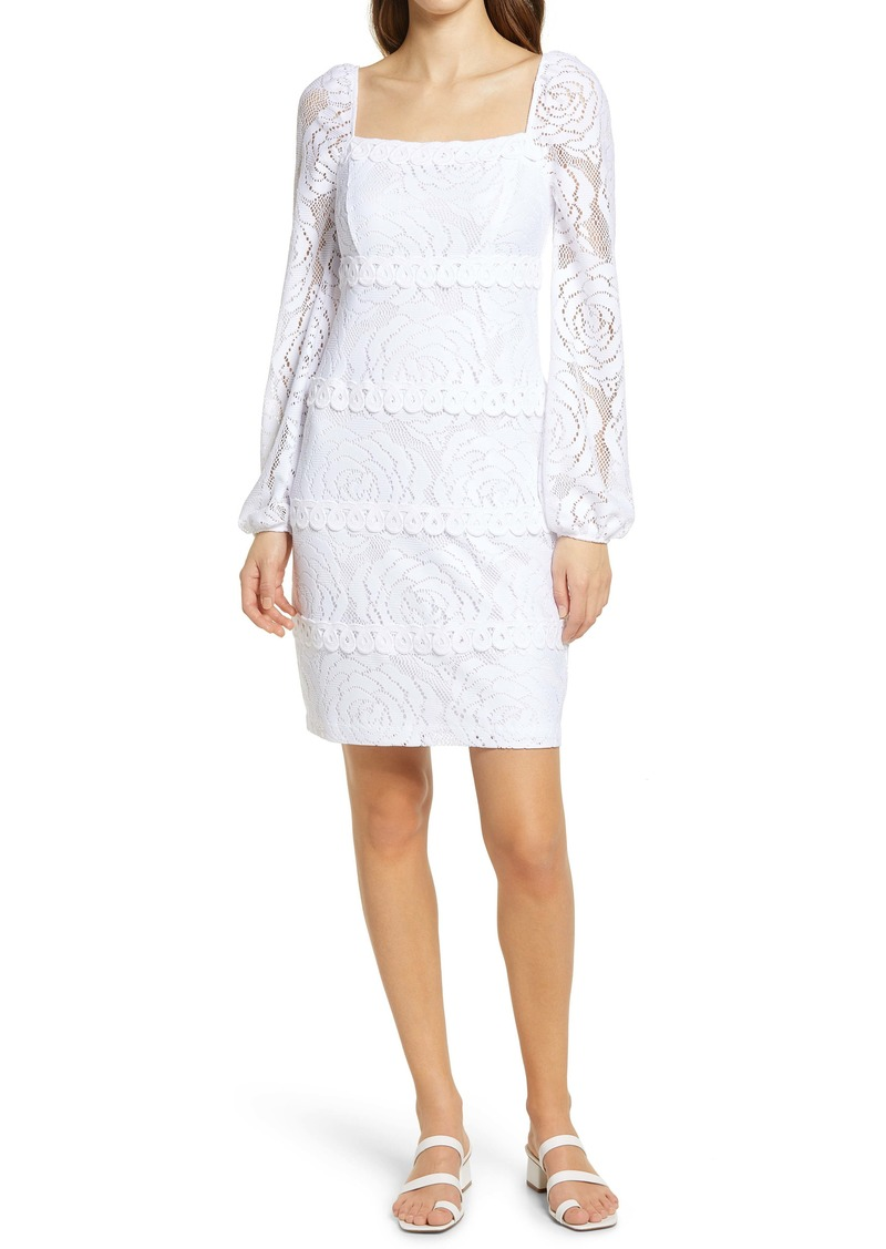 Lilly Pulitzer® Zoella Lace Long Sleeve Sheath Dress