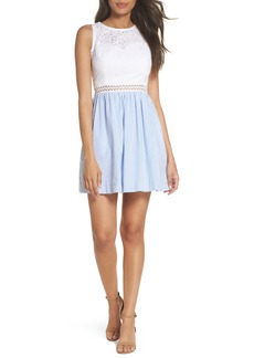 Lilly Pulitzer Lilly Pullitzer® Alivia Eyelet & Seersucker Fit & Flare Dress