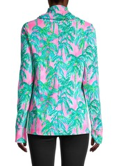 Lilly Pulitzer Lilshield Palm Tree UPF 50+ Cowlneck Top