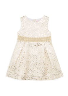 Lilly Pulitzer Little Girl's & Girl's Abrianna Metallic Jacquard A-Line Dress