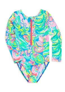 Lilly Pulitzer Little Girl's & Girl's Alaina UPF 50 One-Piece Printed Swimsuit