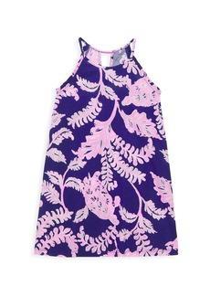 Lilly Pulitzer Little Girl's & Girl's Alek Turtle-Print Halter Dress