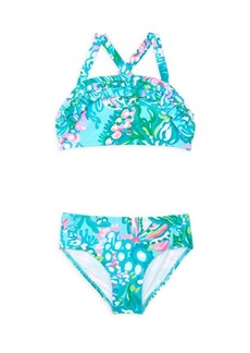 Lilly Pulitzer Little Girl's & Girl's Caia UPF 50+ Floral 2-Piece Bikini Set