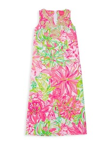 Lilly Pulitzer Little Girl's & Girl's Carlotta Floral Maxi Dress