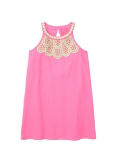 Lilly Pulitzer Little Girl's & Girl's Embellished Lace Shift Dress