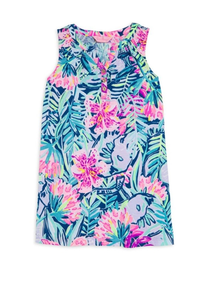 daacf9185 Lilly Pulitzer Little Girl's & Girl's Essie Floral Dress | Dresses