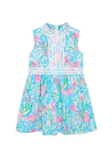 Lilly Pulitzer Little Girl's & Girl's Franci Mini Coral A-Line Dress