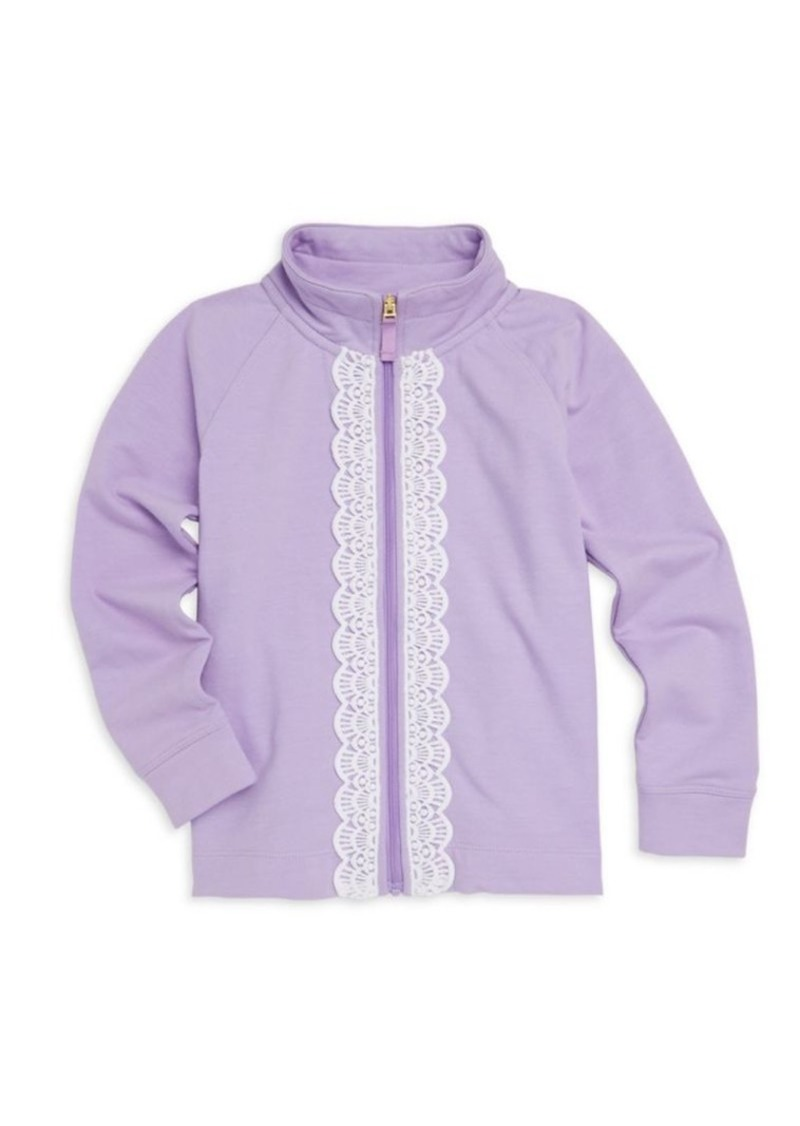 Lilly Pulitzer Little Girl's & Girl's Leona Zip-Up Sweater