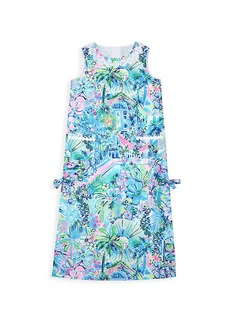 Lilly Pulitzer Little Girl's & Girl's Little Lilly Floral Classic Shift Maxi Dress
