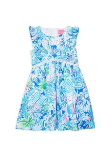 Lilly Pulitzer Little Girl's & Girl's Madelina Floral A-Line Dress