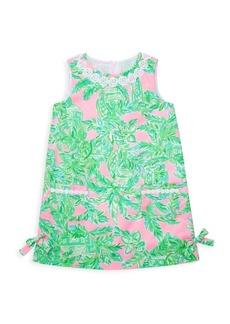 Lilly Pulitzer Little Girl's & Girl's Palm Leaf-Print Shift Dress