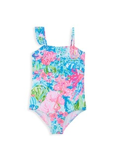 Lilly Pulitzer Little Girl's & Girl's Saskia Floral Swimsuit