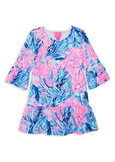Lilly Pulitzer Little Girl's & Girl's Sorrento Floral Print Bell-Sleeve A-Line Dress