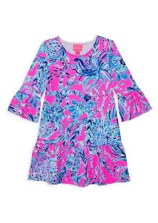 Lilly Pulitzer Little Girl's & Girl's Sorrento Print Drop-Waist Dress