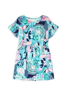 Lilly Pulitzer Little Girl's & Girl's Stasia Floral Cotton Dress