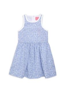 Lilly Pulitzer Little Girl's & Girl's Tori Striped Lace Eyelet A-Line Dress