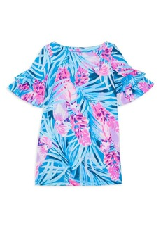 Lilly Pulitzer Little Girl's & Girl's Tropical Floral Ruffle Sleeve Dress