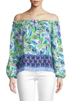 Lilly Pulitzer Lou Lou Off-The-Shoulder Blouse