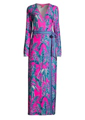 Lilly Pulitzer Marseilles Print Wrap Maxi Dress