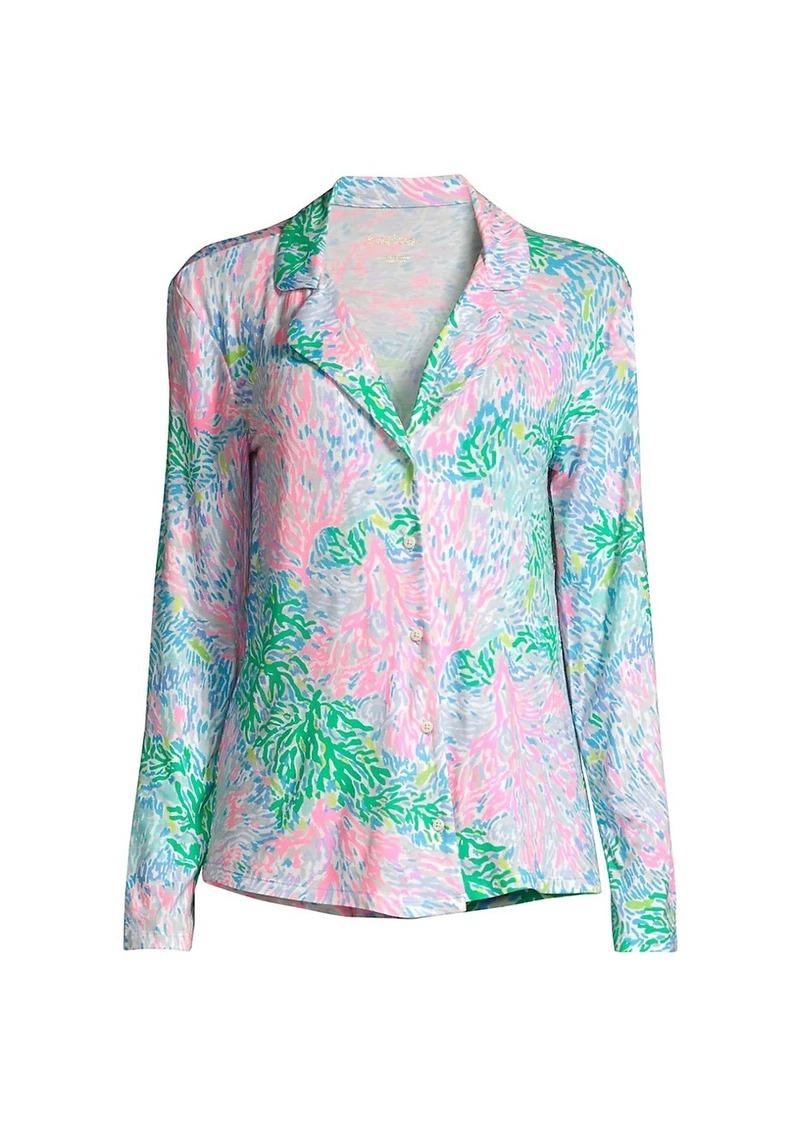 Lilly Pulitzer Multicolor Floral Pajama Top