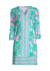 Lilly Pulitzer Nadine Palm Tree UPF 50+ Shift Dress
