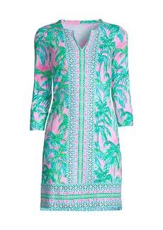 Lilly Pulitzer Nadine Palm Tree UPF 50+ Shift Dress